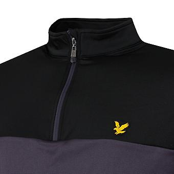 Lyle & Scott Mens 2020 Color Block Stretch Wicking 1/4 Zip Pullover