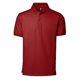 ID Mens Pique Short Sleeve Regular Fitting Polo Shirt