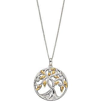 Elements Silver Tree of Life riipus - Hopea/Kulta