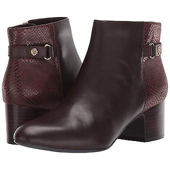 Anne Klein Womens AK193056 Snakeskin Round Toe Ankle Fashion Boots