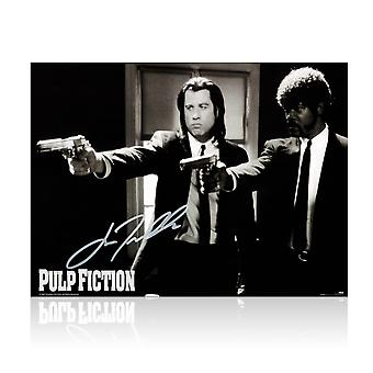 John Travolta Signed Pulp Fiction Poster: Divine Intervention