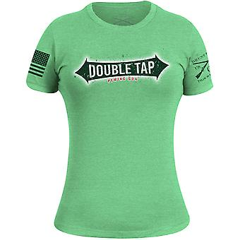 Grunt Style Women's Double Tap Gun T-Shirt - Apple Green
