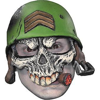 Sergeant Adult Half Cap Mask For Halloween