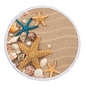 Starfish and Seashells Beach Towel