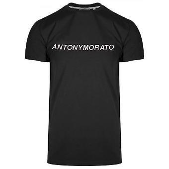 Antony Morato Sport Raised Logo White & Black T-Shirt