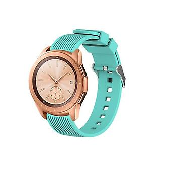 for Samsung Galaxy 42mm / 46mm Watch Wristband Bracelet Band Strap Silicone[46mm,Teal]