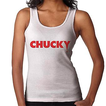 Chucky Classic Logo Dripping Blood Women's Vest