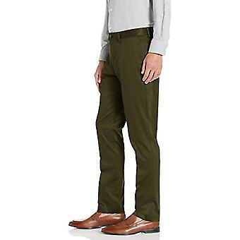 Brand - Buttoned Down Men's Slim Fit Non-Iron Dress Chino Pant, Olive,...