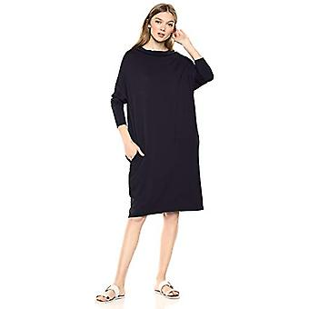 Brand - Daily Ritual Kvinnor's Supersoft Terry Modern Funnel-Neck Dress,...