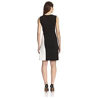 SOCIETY NEW YORK Women's Color Blocked Dress, Black/White, 10 US (L)