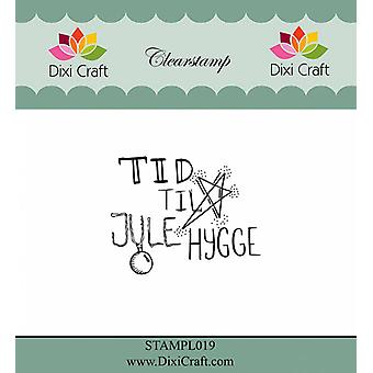 Dixi Craft dansk text 2 Clear Stamp