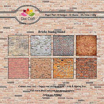 Dixi Craft 6x6 Inch Paper Pack Bricks Background