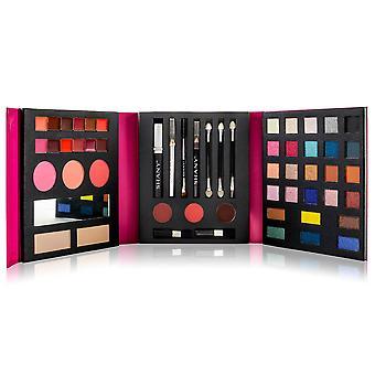 SHANY Beauty Book Makeup Kit - Kaikki yhdessä Travel Makeup Set - 35 Värit Luomiväri , Kulmakarva , blushes, jauhe paletti , 10 Huuli värit, Eyeliner & Mirror - Holiday Makeup Gift Set