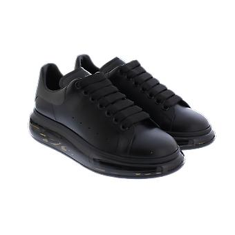 Alexander McQueen Sneake Leath S.Rubb. Larr Black 610812WHYBH1073 chaussure