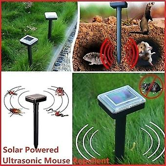 Solar Ultrasonic Vibration Drive Repeller Snake Pest Lawn Garden Courtyard