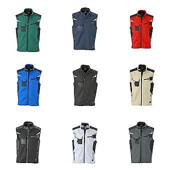James og Nicholson Unisex Workwear Softshell Vest