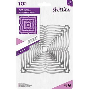 Gemini Stitch Edge Oval 2 Elements Dies