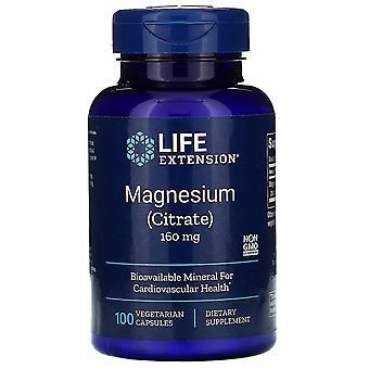 Extensión de la vida, Magnesio, 160 mg, 100 Cápsulas Vegetarianas