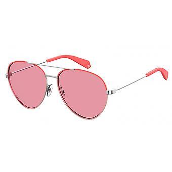 نظارات شمسية للجنسين 6055/S35J/0F فضة / وردي