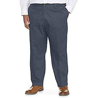 Essentials Men's Big & Tall Loose-fit Wrinkle-Resistant Flat-Front Chino Pant fit by DXL, Navy, 50W x 28L