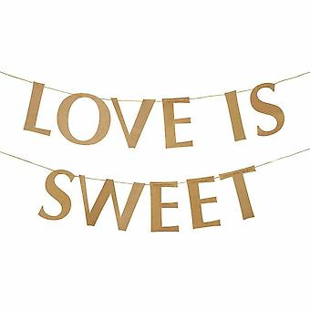 Hearts and Krafts 'Love is Sweet' Paper  Bunting Decoration 2m
