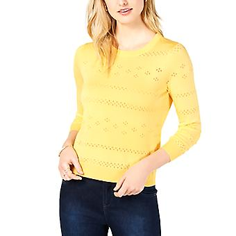 Maison Jules | Pointelle-Knit Cropped Sweater