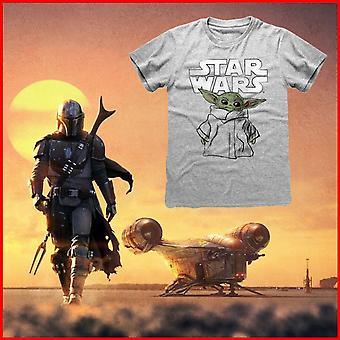 Star Wars: The Mandalorian Unisex Adult The Child Sketch T-Shirt
