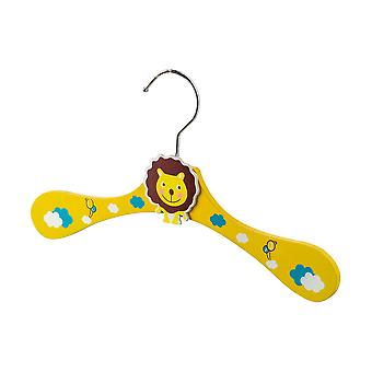 Cartoon Wooden Children's Coat / Clothes Hanger - Lion