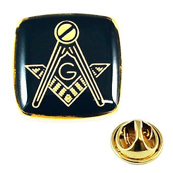 Δεσμοί Πλανήτης Επιχρυσωμένο & Μαύρο Μασονικός με G Lapel Pin Badge