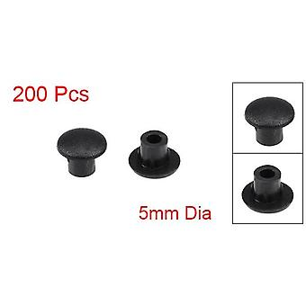 50/100/200pcs Screw Cap Cover 5mm Dia  Plastic Locking Hole Plug Button Type For Cabinet Cupboard Shelf