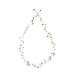 Beginnings Sterling Silver N3149W White Multi Strand Necklace