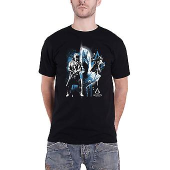 Assassins Creed T Shirt Rafitti Logo new Official Gamer Mens Black