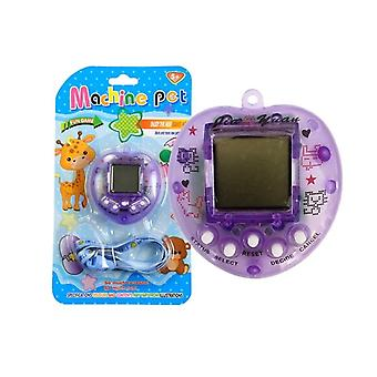 Tamagotchi purple with carrier necklace