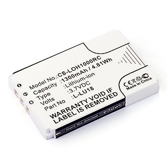 Akkumulátor Logitech Harmony Remote 1100 1100i 915 L-LU18 Squeezebox Duet C-RL65