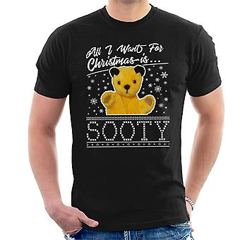 Sooty Christmas All I Want For Christmas Is Sooty Men's T-Shirt