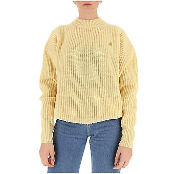 Attico 202wck03w021044 Women's Yellow Wool Sweater