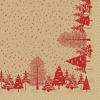 Swantex Winters Tale Christmas Napkins 2 Ply 33cm
