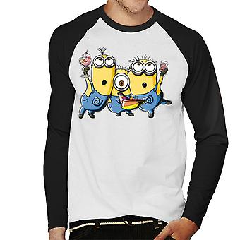 Despicable Me Minions Party Men's Baseball Long Sleeved T-Shirt