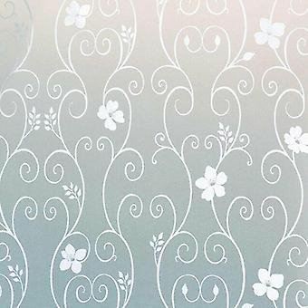 Frosted Floral Pattern Privacy Window Film Stickers