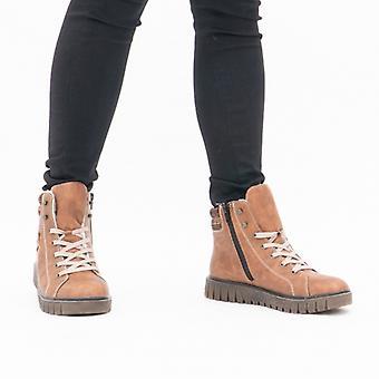 ريكر Y3442-23 السيدات إسفين كعب المتجول أحذية براون