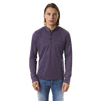 BYBLOS Melanzana Long Sleeve Korean Collar Polo