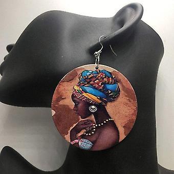 Oorbellen Hout Afrikaanse oorbellen bungelt etnische traditionele