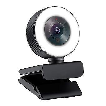 Logitubo webcam 1080p hd sisäänrakennettu säädettävä rengasvalo mikrofonilla advanced autofocus(af) strea
