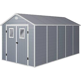 "Caseta de jardín "" Texas"" - 10.99 m² - 456 x 242 x 239 cm - Grau"