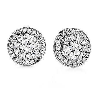 1.50 Karaat Halo Diamond Oorbellen