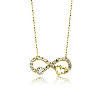 Collana infinity & heart gold