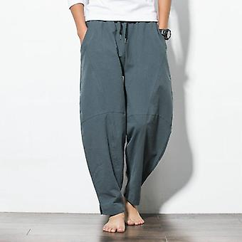 Spring Hip Hop Harem Pants, Men Casual Loose Trousers Drawstring Joggers Pants