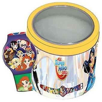 Super hero watch  girls - tin box 504919