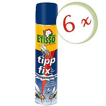 Sparset: 6 x FRUNOL DELICIA® Etisso® Tip fix Fly Spray, 400 ml - also against wasps