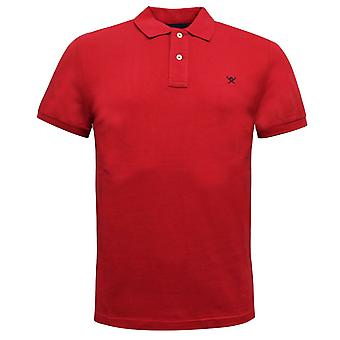 Hackett Mens Polo Top Slim Fit Short Sleeved T-Shirt Red HM562363 255
